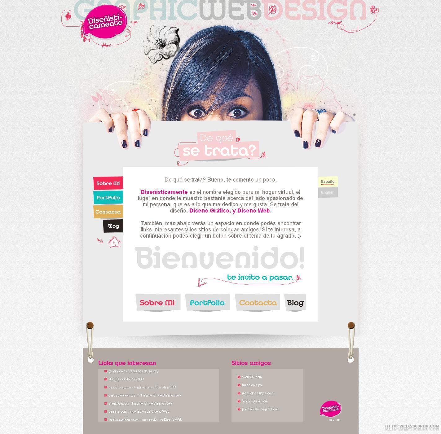 欧美平面设计网页设计个人网站