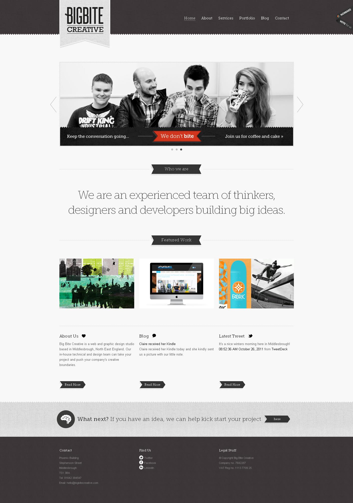 英国big bite创意网页设计及平面设计