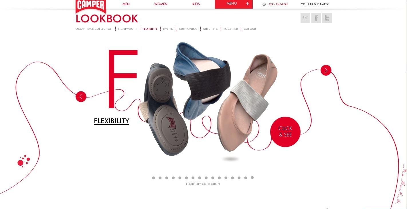 2012camper露营春夏凉鞋-休闲鞋!很不错的html5效果