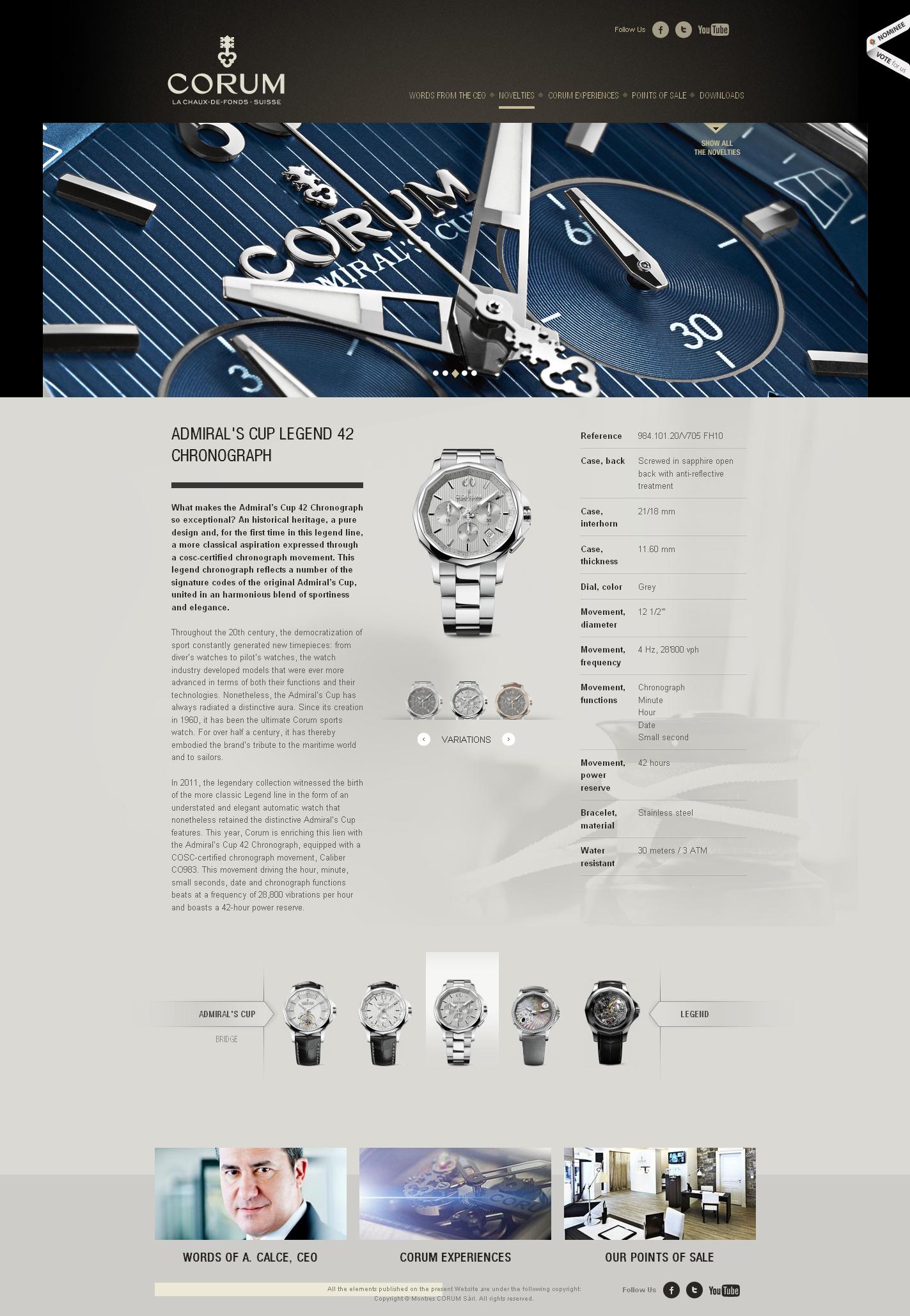 瑞士corum昆仑手表制造商产品展示酷站 25813 高清图片