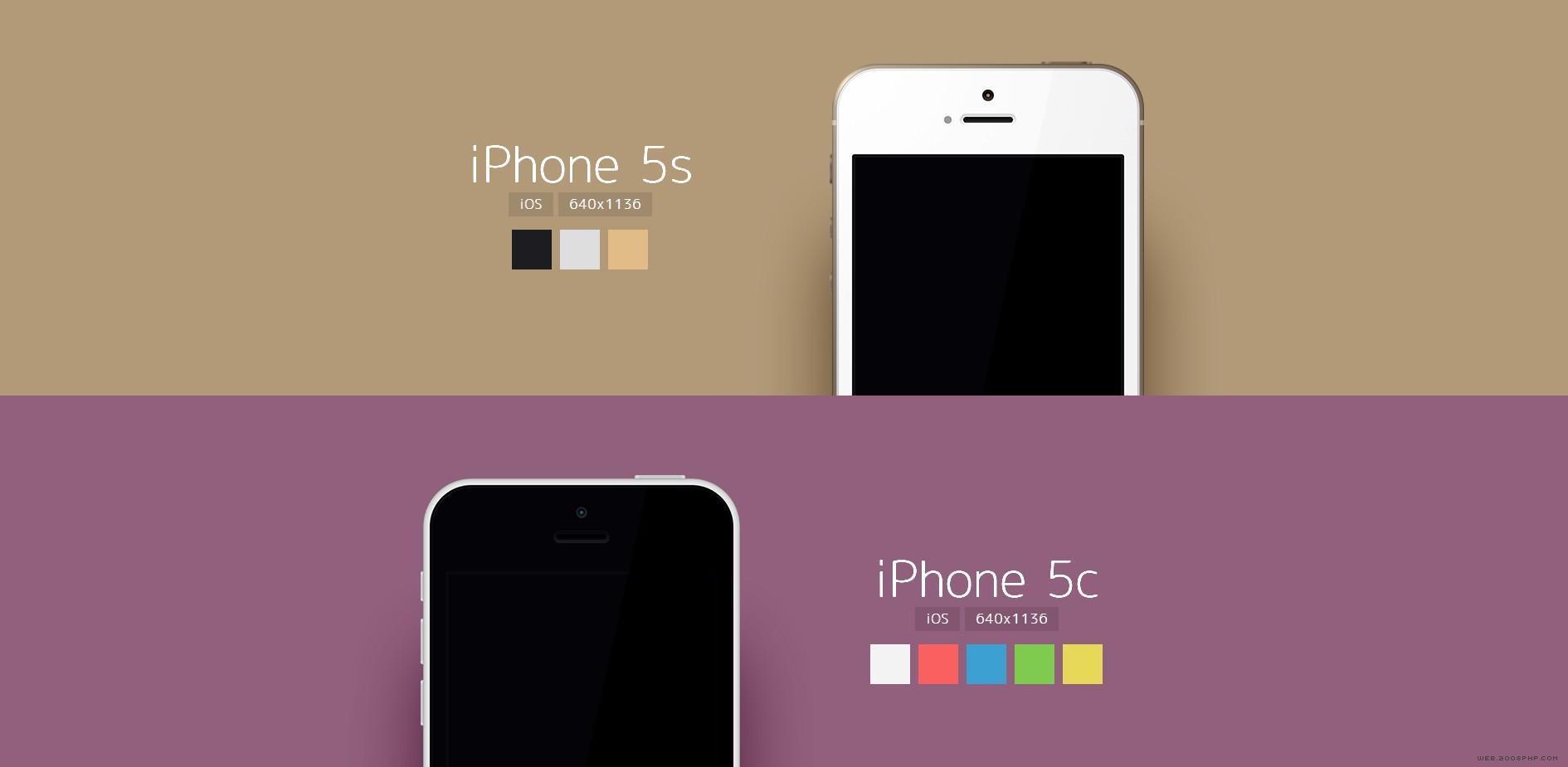 phones-18款iphones手机矢量模板.
