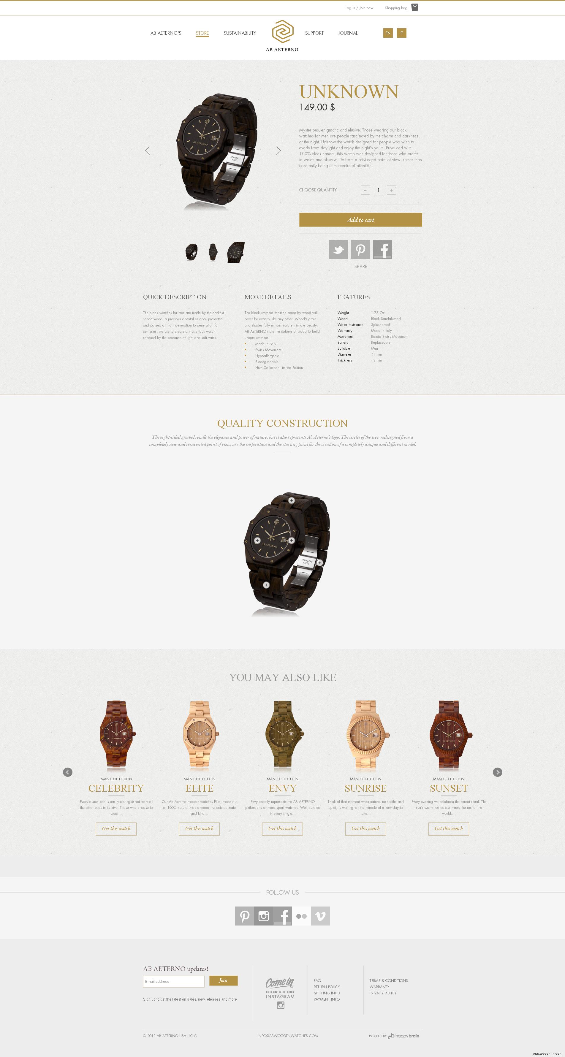 意大利木制手表 整机采用瑞士机芯 42684 高清图片