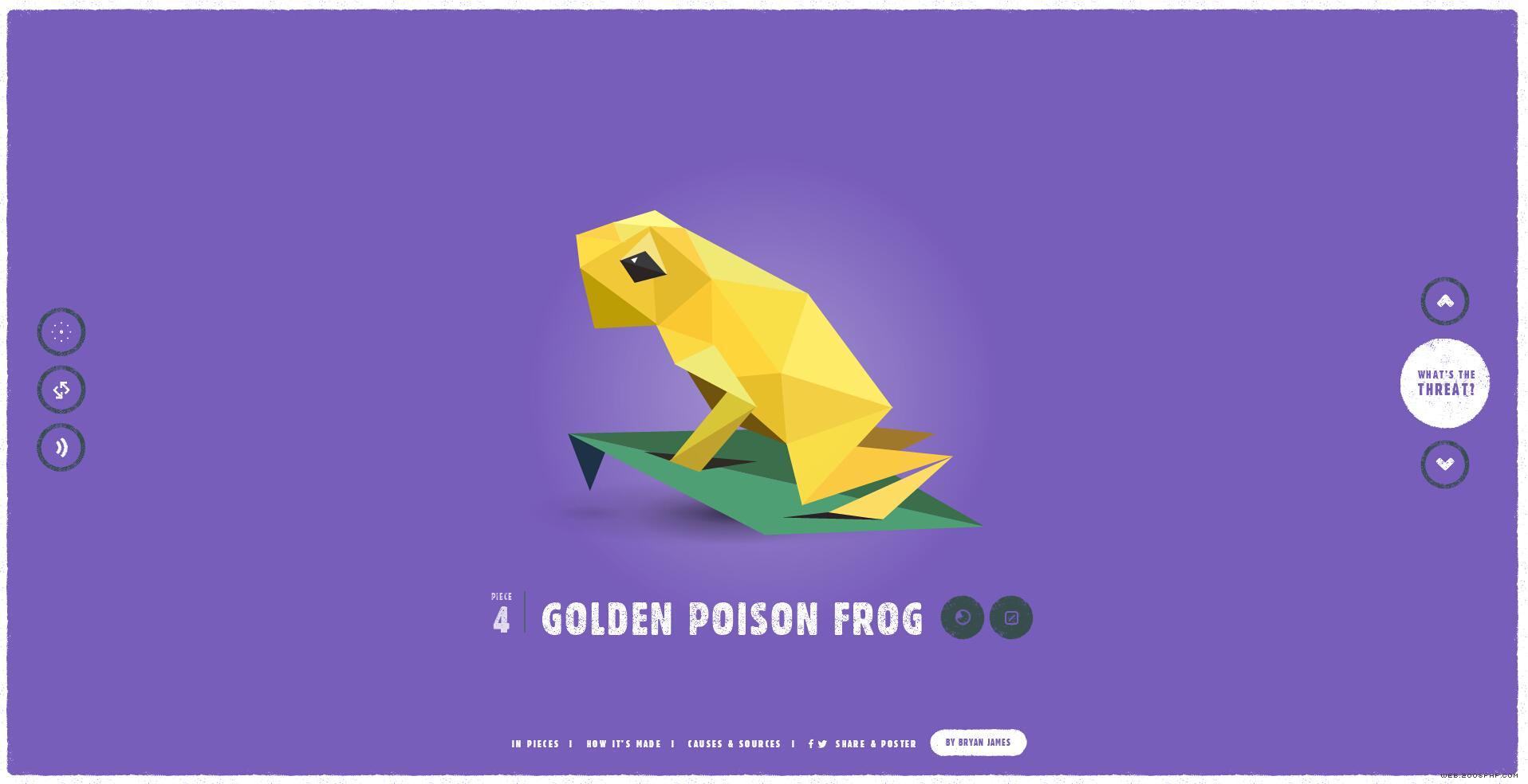 栩栩如生的几何图形演变组成的动物html5酷站!图片