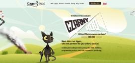 黑猫神手!波兰CzarnyKod网页PSD代码设计机构酷站。