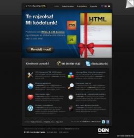 匈牙利通过SiteBuilder 24的无差错的HTML和CSS与私营部门进行了编码