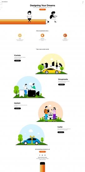 印度Creative Dreams网页设计机构!