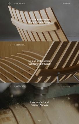 浓郁的挪威风味木椅子!