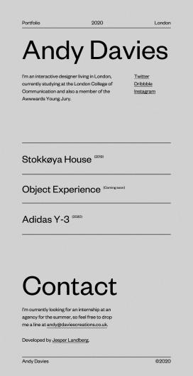 安迪・戴维斯(Andy Davies)-英国伦敦的互动设计师!