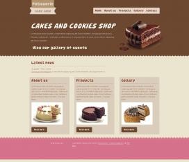 国外Lulu糕点-蛋糕美食类网站