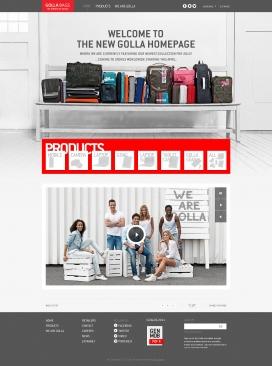 芬兰golla高乐箱包产品展示网站。